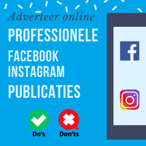 Professionele Facebook en Instagram publicatie
